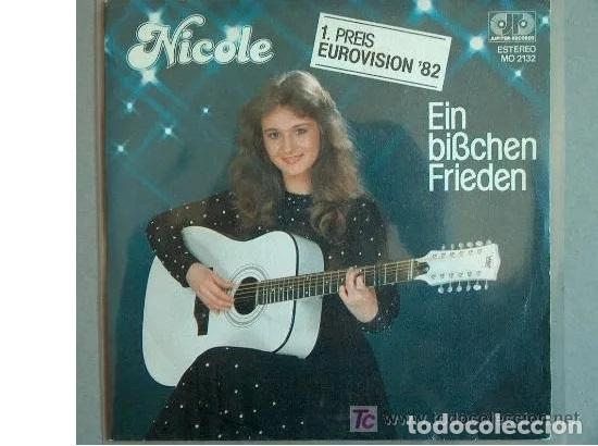 NICOLE - EIN BIBCHEN FRIEDEN -PRIMER PREMIO EUROVISION 1982 (Música - Discos - Singles Vinilo - Festival de Eurovisión)
