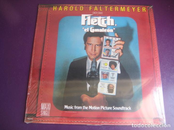 HAROLD FALTERMEYER – FLETCH THEME (EL CAMALEON) MAXI SINGLE MCA 1985 - DISCO POP CINE 80'S BSO (Música - Discos de Vinilo - Maxi Singles - Bandas Sonoras y Actores)