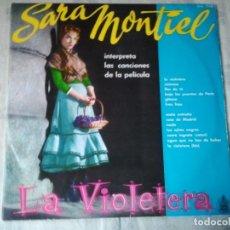 Discos de vinilo: DISCO LP DE SARA MONTIEL LA VIOLETERA. VINILO ANTIGUO RARO. Lote 208357431