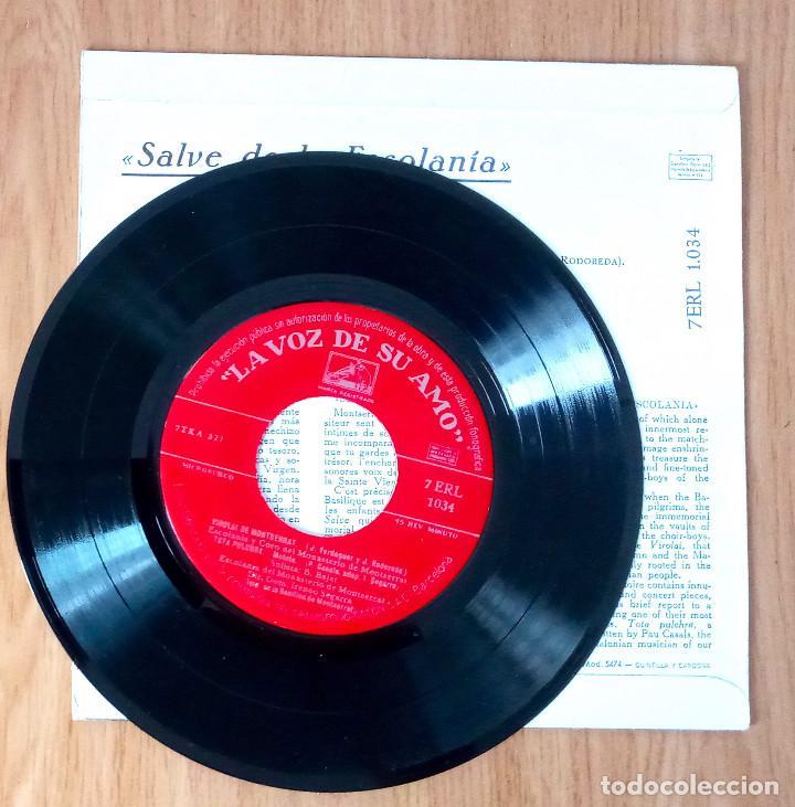 Discos de vinilo: SALVE DE LA ESCOLANÍA MONASTERIO MONTSERRAT- EP 45 RPM - Foto 3 - 208149400