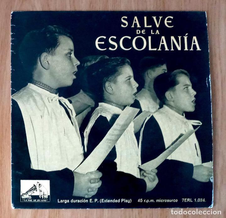 SALVE DE LA ESCOLANÍA MONASTERIO MONTSERRAT- EP 45 RPM (Música - Discos de Vinilo - EPs - Clásica, Ópera, Zarzuela y Marchas)