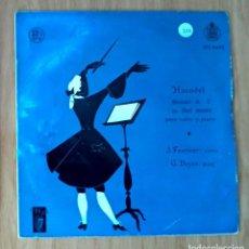 Discos de vinilo: HAENDEL - SONATA Nº2 EN SOL MENOR VIOLIN Y PIANO- FOURNIER & DOYEN - 33 RPM. Lote 208149816