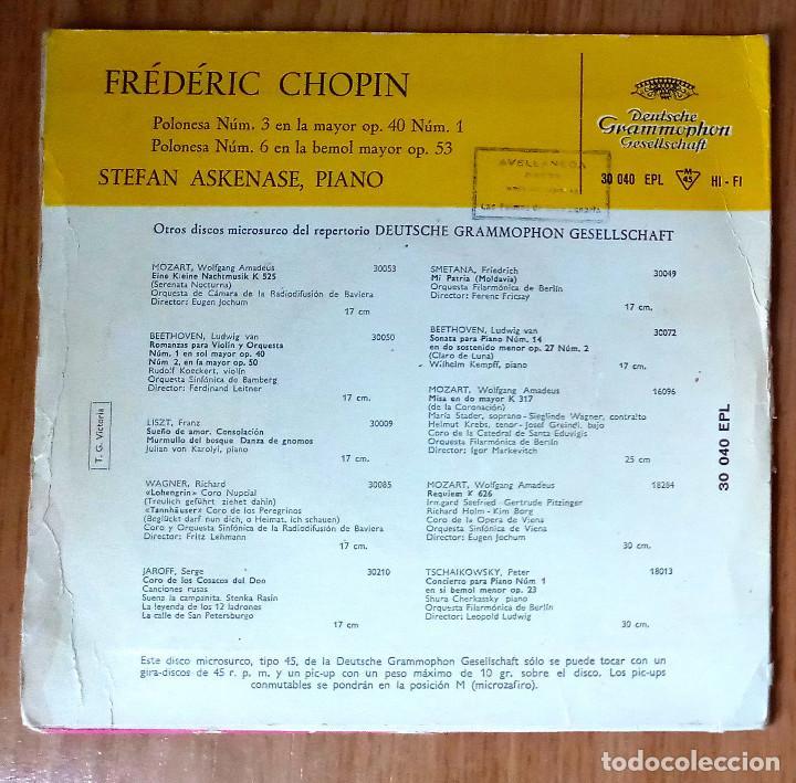 Discos de vinilo: FREDERIC CHOPIN - POLONESA Nº 3 Y Nº 6 - STEFAN ASKENASE, PIANO - 45 RPM - DEUTSCHE GRAMMOPHON - Foto 2 - 208150133