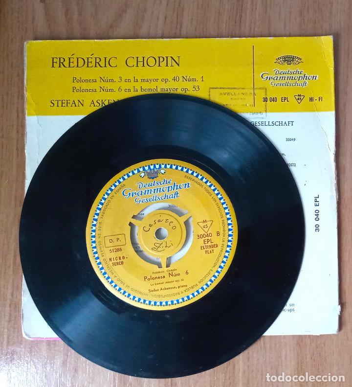 Discos de vinilo: FREDERIC CHOPIN - POLONESA Nº 3 Y Nº 6 - STEFAN ASKENASE, PIANO - 45 RPM - DEUTSCHE GRAMMOPHON - Foto 3 - 208150133