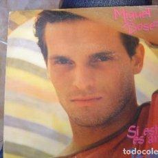Discos de vinilo: MIGUEL BOSÉ – SI ESTO ES AMOR. 7'' SINGLE.. Lote 208391178