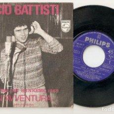 """Discos de vinilo: LUCIO BATTISTI 7"""" SPAIN 45 UN´AVVENTURA SINGLE VINILO 1969 FESTIVAL DE SANREMO SAN REMO MUY RARO VER. Lote 208392402"""