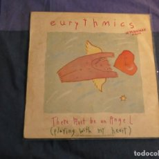 Discos de vinilo: PRECIOSO MAXISINGLE EURYTHMICS THERE MUST AN ANGEL CIERTO USO AUN DECENTE. Lote 208411151