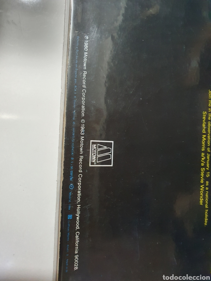 Discos de vinilo: Stevie Wonder / Rev. Martin Luther King - Happy Birthday, promo Motown, 1984, españa. - Foto 4 - 208414597