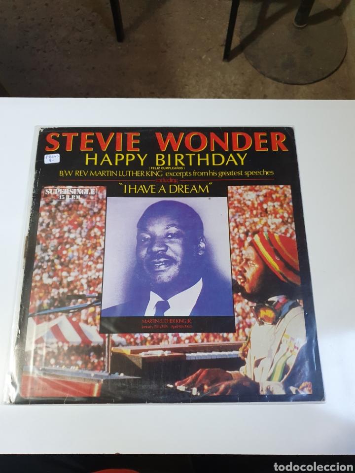 STEVIE WONDER / REV. MARTIN LUTHER KING - HAPPY BIRTHDAY, PROMO MOTOWN, 1984, ESPAÑA. (Música - Discos de Vinilo - Maxi Singles - Funk, Soul y Black Music)
