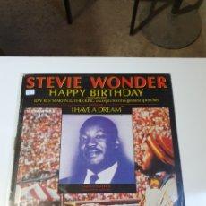 Discos de vinilo: STEVIE WONDER / REV. MARTIN LUTHER KING - HAPPY BIRTHDAY, PROMO MOTOWN, 1984, ESPAÑA.. Lote 208414597