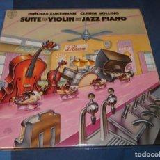 Discos de vinilo: BRUTALISIMO LP PINCHAS ZUKERMAN CLAUDE BOLLING SUITE FOR VIOLIN AND PIANO CBS MASTER WORKS. Lote 208426383