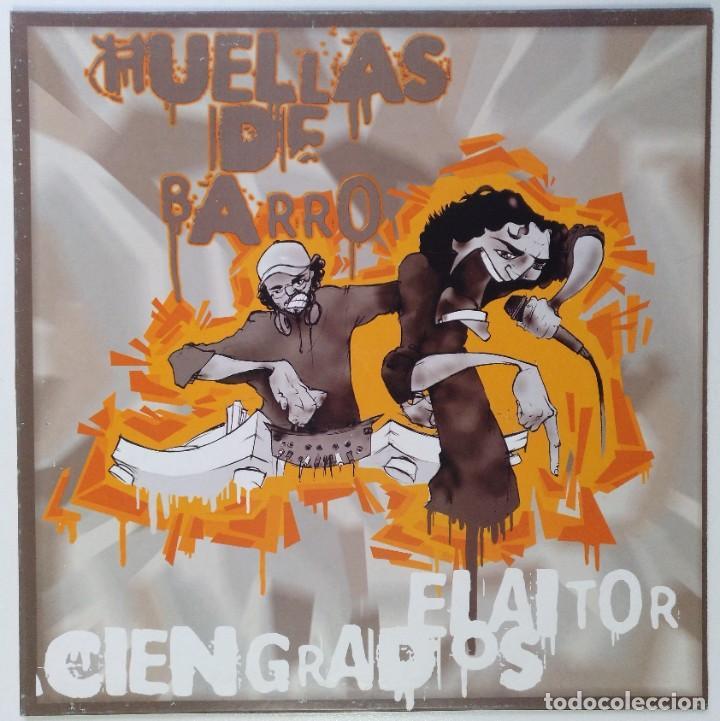 """HUELLAS DE BARRO - EL AITOR CIENGRADOS [ HIP HOP / RAP] EDICIÓN ESPECIAL LIMITADA MX 12"""" 45RPM 2003 (Música - Discos de Vinilo - Maxi Singles - Rap / Hip Hop)"""