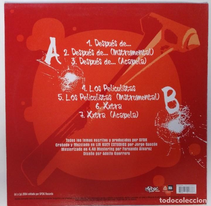 "Discos de vinilo: SFDK - DESPUES DE... [ HIP HOP / RAP EDICIÓN ESPECIAL LIMITADA MX 12"" 45RPM SEVILLA ZATU 2004 - Foto 2 - 208433915"