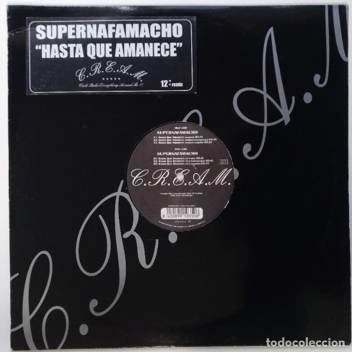 """SUPERNAFAMACHO - HASTA QUE AMANECE [ HIP HOP / RAP EDICIÓN LIMITADA ] CPV MX 12"""" 45RPM 7N7C 2002 (Música - Discos de Vinilo - Maxi Singles - Rap / Hip Hop)"""