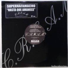 """Discos de vinilo: SUPERNAFAMACHO - HASTA QUE AMANECE [ HIP HOP / RAP EDICIÓN LIMITADA ] CPV MX 12"""" 45RPM 7N7C 2002. Lote 208434470"""