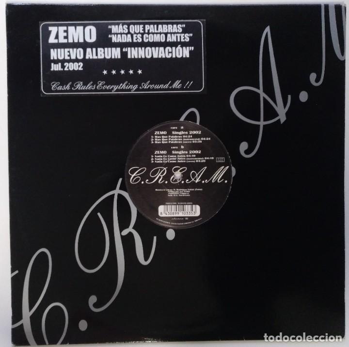 """ZEMO - MAS QUE PALABRAS / NADA ES [ HIP HOP / RAP EDICIÓN LIMITADA ] ELEMENTS MX 12"""" 45RPM 7N7C 2002 (Música - Discos de Vinilo - Maxi Singles - Rap / Hip Hop)"""