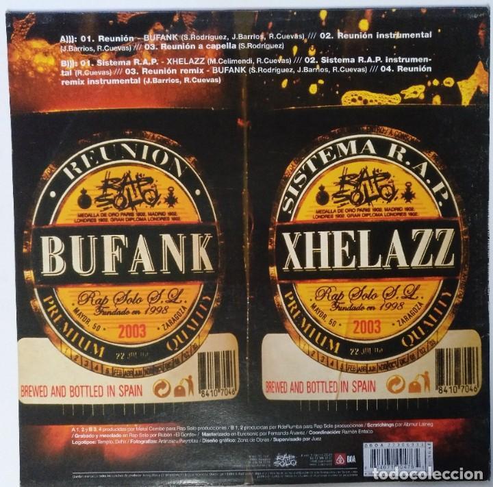 """Discos de vinilo: R DE RUMBA - BUFANK XHELAZZ [HIP HOP / RAP EDICIÓN EXCLUSIVA] VIOLADORES DEL VERSO MX 12"""" 45RPM 2003 - Foto 2 - 208434812"""