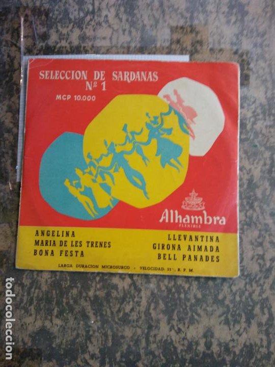 SELECCIÓN DE SARDANAS Nº1. ANGELINA. MARIA DE LES TRENES. BONA FESTA. ALHAMBRA FLEXIBLE. (Música - Discos - LP Vinilo - Otros estilos)