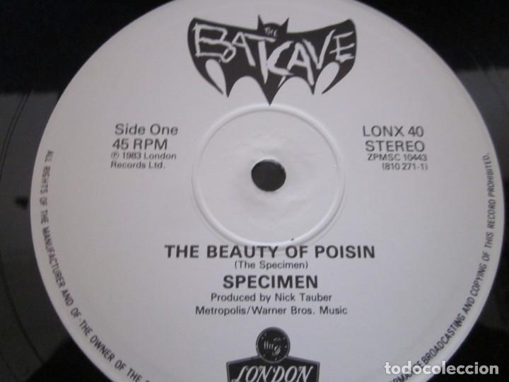 Discos de vinilo: SPECIMEN - THE BEAUTY OF POISIN - MX - EDICION INGLESA DEL AÑO 1983 - Foto 3 - 208448382