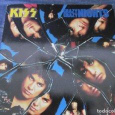 Discos de vinilo: KISS - CRAZY CRAZY NIGHTS - MX - EDICION DEL AÑO 1987 - 4 TEMAS.. Lote 208448897