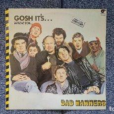 Discos de vinilo: BAD MANNERS - GOSH IT´S. EDITADO POR MAGNET. AÑO 1.981. INCLUYE SU EXITO CAN-CAN. Lote 208453262