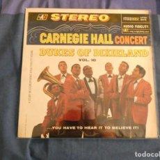 Disques de vinyle: LP BUEN ESTADO ANTIGUO USA CIRCA 1965 DUKES OF DIXIELAND VOL 10 THE CARNEGIE HALL CONCERT B. Lote 208462053