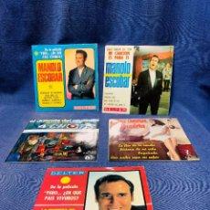 Discos de vinilo: LOTE 5 DISCOS ESCOBAR MARIA DOLORES PRADERA DUENDE ORGANILLO. Lote 208485827