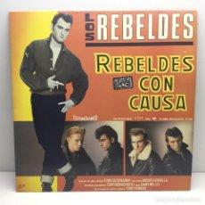 Discos de vinilo: LP - DISCO - VINILO - LOS REBELDES - REBELDES CON CAUSA - EPIC - AÑO 1985. Lote 208486497