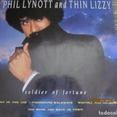 Discos de vinilo: PHIL LYNOTT AND THIN LIZZY - THE BEST OF LP - EDICION INGLESA - TELSTAR RECORDS 1987 -. Lote 208491253