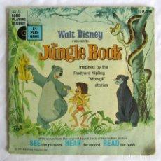 Discos de vinilo: EP VINILO THE JUNGLE BOOK WALT DISNEY CON CUENTO. Lote 208491798