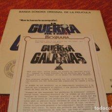 Discos de vinilo: STAR WARS LA GUERRA DE LAS GALAXIAS DOBLE LP CON 3 HOJAS PROMO ESPAÑA ORIGINAL 1977 JOHN WILLIAMS. Lote 208493286