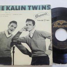 Discos de vinilo: THE KALIN TWINS - THREE O' CLOCK THRILL +3 - EP BRUNSWICK ESPAÑA 1959. Lote 208565085