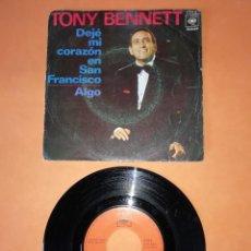 Discos de vinilo: TONY BENNET. DEJE MI CORAZON EN SAN FRANCISCO. ALGO. CBS RECORDS 1970. Lote 208569710