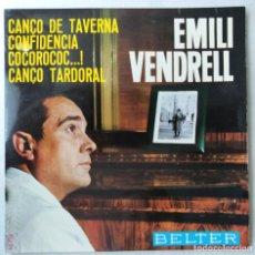 """Discos de vinilo: EMILI VENDRELL - CANÇO DE TAVERNA / CONFIDENCIA / COCOROCOC...! / CANÇO TARDORAL (7"""", EP) (BEL (NM). Lote 208571395"""