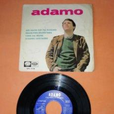 Discos de vinilo: ADAMO. MES MAINS SUR TES ANCHES. LA VOZ DE SU AMO. EMI RECORDS 1965. Lote 208573030