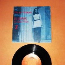 Discos de vinilo: PILAR TOMAS. UN HOMBRE EN UNA ISLA. ESTA VIVO. TEMAS DE LA PELICULA Z. CBS 1970. Lote 208575061