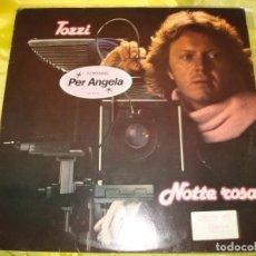 Discos de vinilo: UMBERTO TOZZI. NOTTE ROSA. CBS, 1981. CON INSERT. EDC. HOLLAND. Lote 208575863