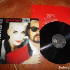 Discos de vinilo: EURYTHMICS GREATEST HITS LP VINILO DEL AÑO 1991 ESPAÑA CON ENCARTE CONTIENE 13 TEMAS. Lote 208582847