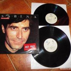 Discos de vinilo: JOAQUIN SABINA MUCHO SABINA DOBLE LP VINILO DEL AÑO 1990 CONTIENE 21 TEMAS 2 LP. Lote 208583682