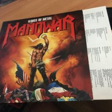 Discos de vinilo: MANOWAR (KINGS OF METAL) LP 1988 GERMANY (B-11). Lote 258517560