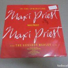 Discos de vinilo: MAXI PRIEST (MX) IN THE SPRINGTIME (2 TRACKS) AÑO – 1986 – EDICION U.K. Y LIMITADA. Lote 208597125