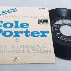 Discos de vinilo: SINGLE TOMMY KINSMAN - DANCE TO THE INMORTAL COLE PORTER (FONTANA, 1965) EDICION ESPAÑOLA. Lote 208601231