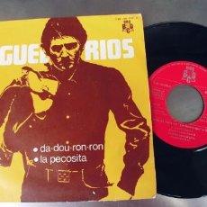 Discos de vinil: MIGUEL RIOS-SINGLE LA PECOSITA. Lote 208646702