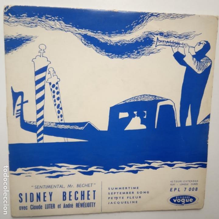 SIDNEY BECHET - CLAUDE LUTER- SENTIMENTAL MR. BECHET - FRANCE EP + TRICENTRE. (Música - Discos de Vinilo - EPs - Jazz, Jazz-Rock, Blues y R&B)