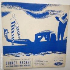 Discos de vinilo: SIDNEY BECHET - CLAUDE LUTER- SENTIMENTAL MR. BECHET - FRANCE EP + TRICENTRE.. Lote 208657485