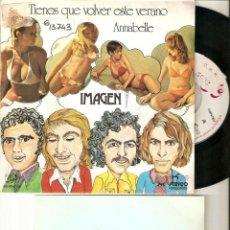 """Discos de vinilo: IMAGEN 7"""" SPAIN 45 TIENES QUE VOLVER ESTE VERANO SINGLE VINILO PROMO INSERT 1973 POP ROCK UNIC EKIPO. Lote 208662823"""
