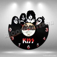 Discos de vinilo: RELOJ DE DISCO LP DE KISS. Lote 260746370