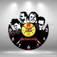 Discos de vinilo: RELOJ DE DISCO LP DE METALLICA. Lote 253563240