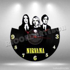 Discos de vinilo: RELOJ DE DISCO LP DE NIRVANA. Lote 208693747