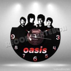 Discos de vinilo: RELOJ DE DISCO LP DE OASIS. Lote 208693786